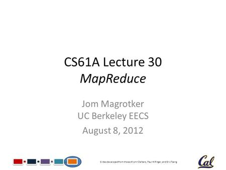 CS61A Lecture 11 Immutable Trees Jom Magrotker UC Berkeley EECS July