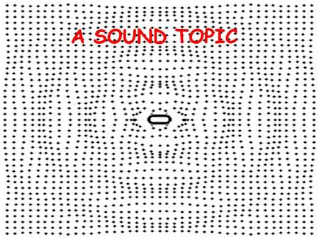 A SOUND TOPIC. The Physics of Sound Sound travels in longitudinal waves.