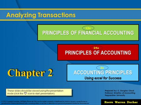 Chapter 2 – Analyzing Transactions - ppt video online download