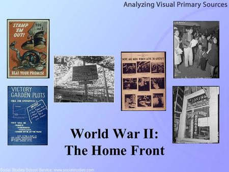 World War II: The Home Front. 2 Propaganda is the activity of inducing others to behave in a way in which they would not behave in its absence. It is.