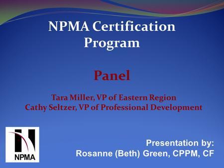 HFTP Global Certification Program - ppt download