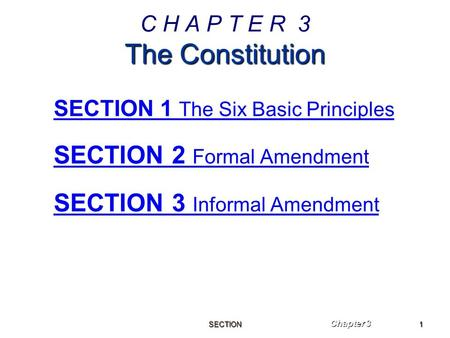 Chapter 3: The Constitution - ppt video online download