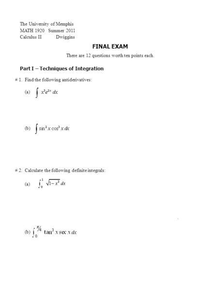 AP Calculus BC Monday, 16 November ppt download