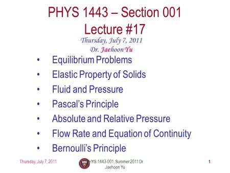 PHYS 1443 – Section 001 Lecture  21 - ppt video online download 5c6ba8e4656dd