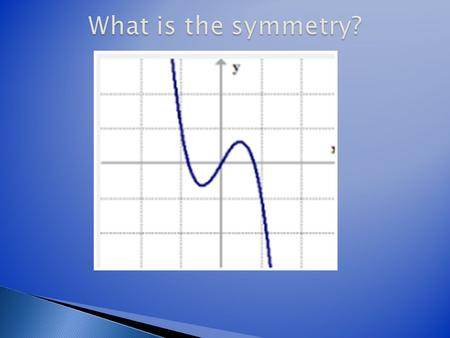 What is the symmetry? f(x)= x 3 –x.