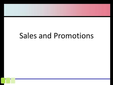 what is the definition of sales promotion