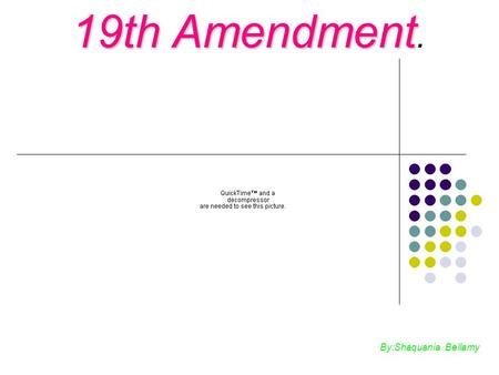 19th Amendment. By:Shaquania Bellamy.