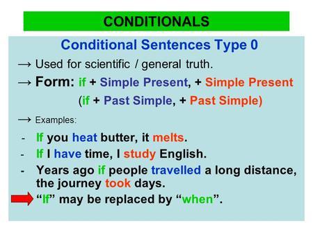 Conditional Sentences Ppt Video Online Download
