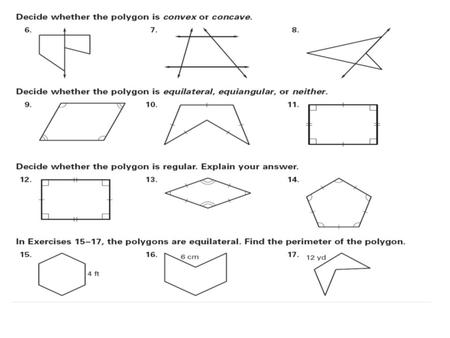 Number Names Worksheets pentagon hexagon heptagon octagon : Polygons & Parallelograms Properties & Attributes. - ppt download