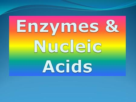  Now let's view 2 videos to help us understand how enzymes work in our bodies.   hill.com/sites/0072495855/student_v iew0/chapter2/animation__how_enzy.