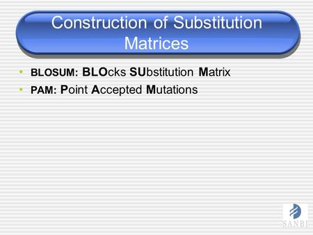 Construction of Substitution Matrices