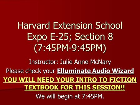 Harvard Extension School Expo E-25