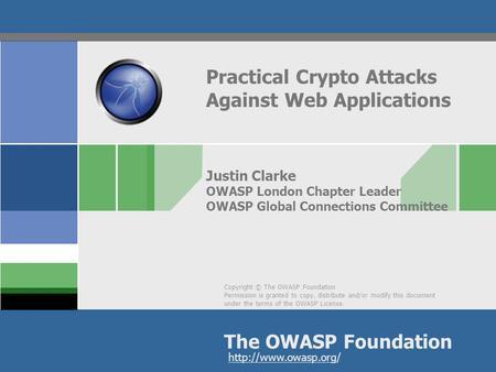 Enterprise Security API (ESAPI) 2 0 Crypto Changes