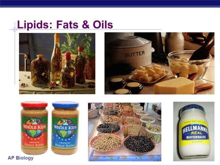 AP Biology Lipids: Fats & Oils AP Biology Lipids  Lipids are composed of Carbon, Hydrogen, and small amts of Oxygen  long hydrocarbon chains (H-C)