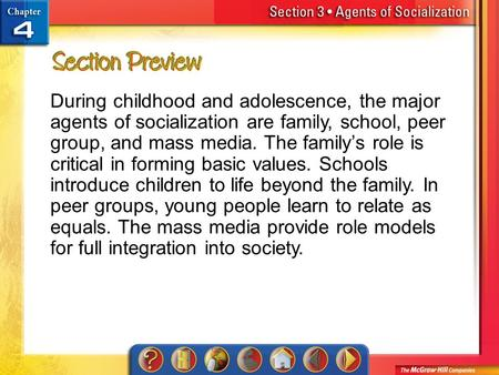 5 major agents of socialization