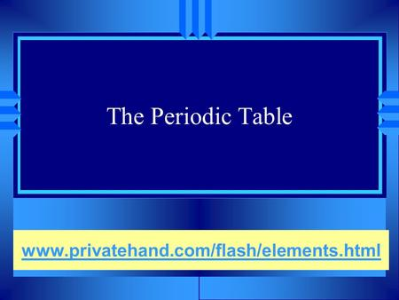 Periodic table the how and why history u 1829 german j w the periodic table privatehandflashelementsml urtaz Gallery