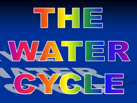WHAT IS THE WATER CYCLE? Water is always moving between the atmosphere (troposphere) and surface of Earth. Water is always moving between the atmosphere.