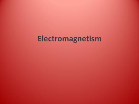 Electromagnetism. Magnets Magnets are materials that produce a magnetic field. Magnets can only exert a force on some metals ( iron, cobalt and nickel)