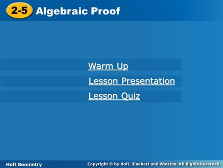 Algebraic proof Chapter 2 Section ppt download