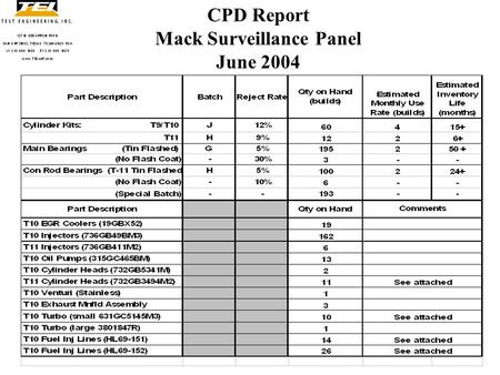 Volvo/Mack CPD Report T8/T11/T12/T13 - ppt download