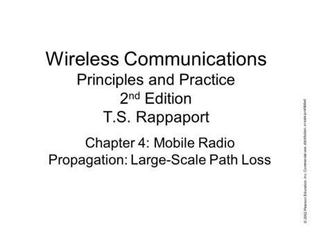 Wireless communications: principles and practice, 2nd edition.