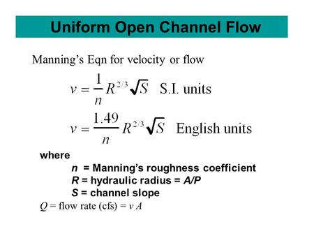 Basic Hydraulics: Open Channel Flow – I - ppt video online