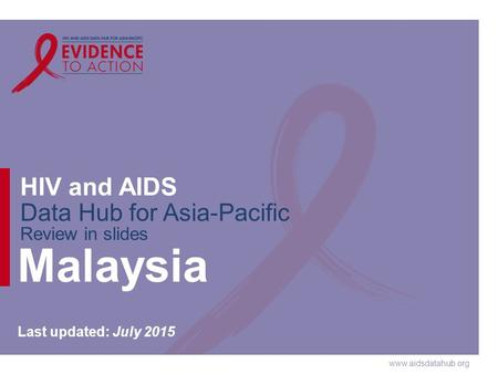 Www.aidsdatahub.org HIV and AIDS Data Hub for Asia-Pacific Review in slides Malaysia Last updated: July 2015.
