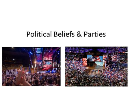 Political Beliefs & Parties. Learning Intention I will be able to… Explain what the political terms liberal, conservative and moderate mean.