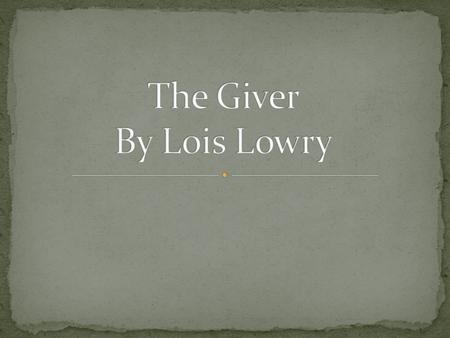 The Giver – R A F T  Writing IEI - ppt video online download