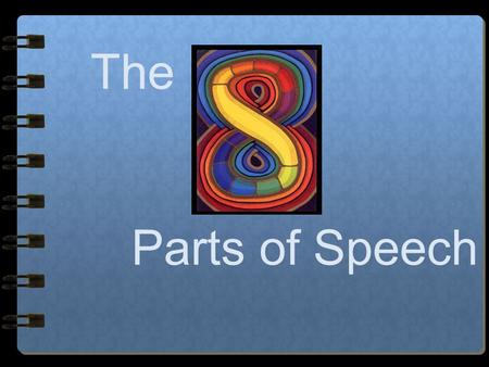 The Parts of Speech The 8 Parts of Speech… Nouns Adjectives Pronouns Verbs Adverbs Conjunctions Prepositions Interjections.