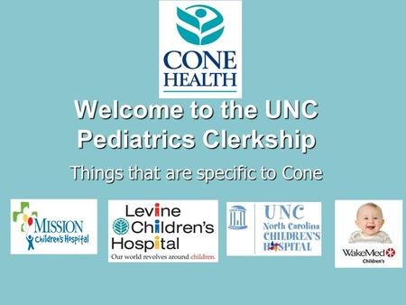 Welcome to the UNC Pediatrics Clerkship - ppt video online