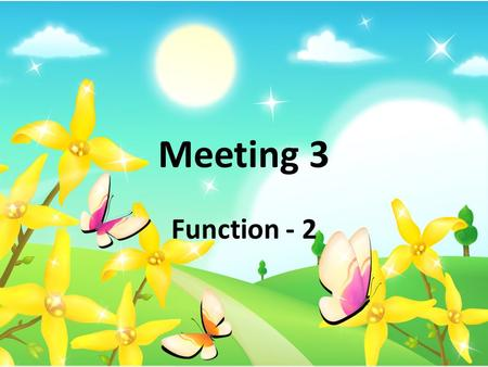 Function - 2 Meeting 3. Definition of Composition of Functions.