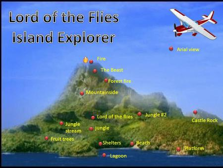 Lord Of The Flies Island On Fire