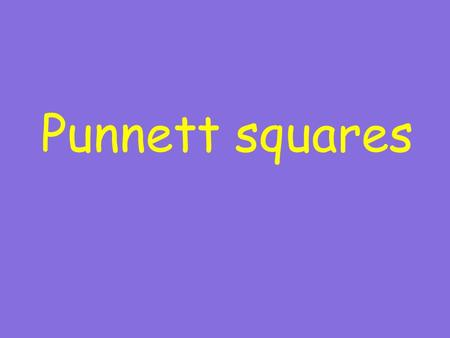 Punnett squares. The tool which uses the combination of alleles to predict the probability of traits showing up in offspring.