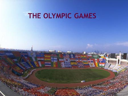 THE OLYMPIC <strong>GAMES</strong> 1.Do you like sports? How often do you play sport? What sports do you usually play? 2.What is your favorite sport? Can you figure out.