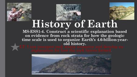 History of Earth MS-ESS1-4