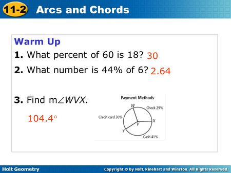 10 2 Find Arc Measures Hubarth Geometry The Measures Of A