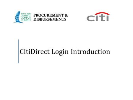 CitiDirect Login Introduction