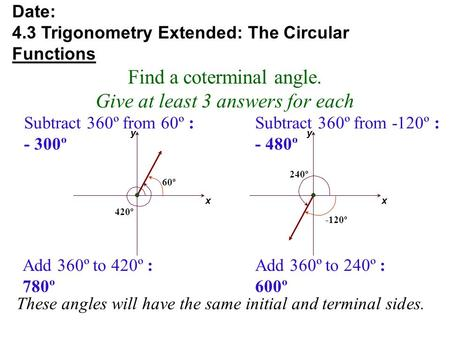 Trigonometry For Any Angle Ppt Video Online Download