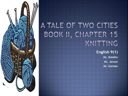 tale of two cities book 2 chapter 9