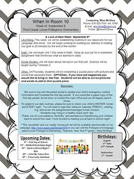 Back to School Night. Math and Language Arts Pilot Math Program A ...