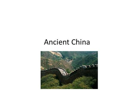 Ancient China Ancient History 10. What dynasties do you know from China?