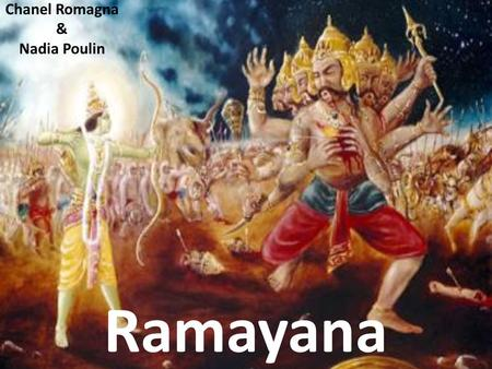 Archetypes and the Ramayana's Cast of Characters - ppt video