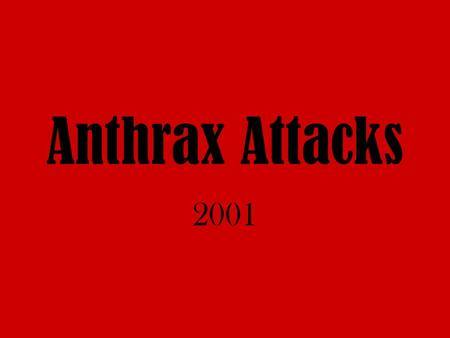 Image result for anthrax laced letters sent to capitol hill