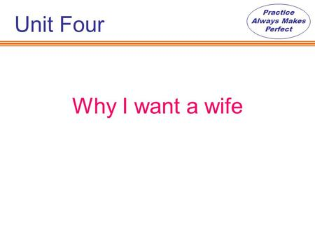 why i want a wife