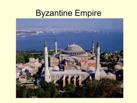 Byzantine Empire. The Roman Emperor Constantine started the Byzantine Empire when he moved the capital of Rome to Byzantium (Today the city is called.