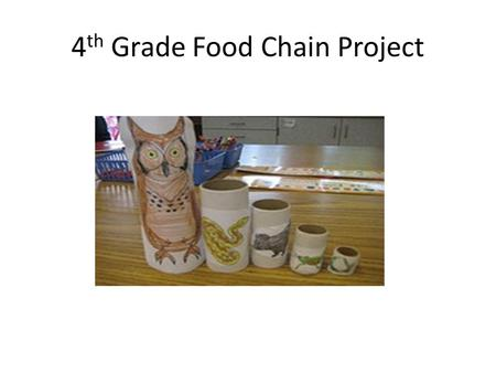 4 th Grade Food Chain Project. 1 producer, 4 Animals 1. Choose an ecosystem 2. Choose a producer as the beginning of the food chain 3. Choose an herbivore.