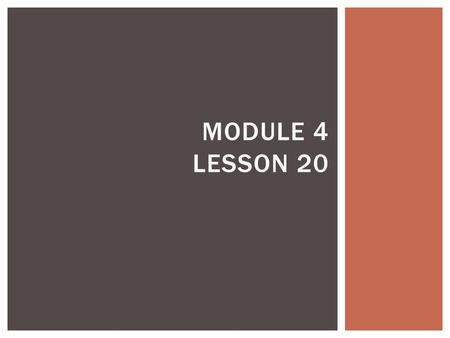 Math Module 3 Multi-Digit Multiplication and Division - ppt