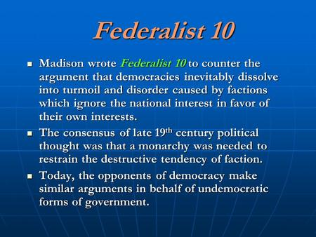 Federalist Ppt Download