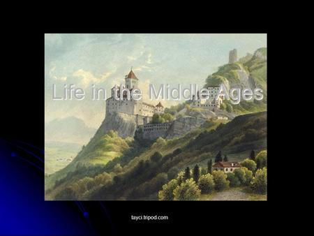 Life in Medieval Towns  - ppt video online download